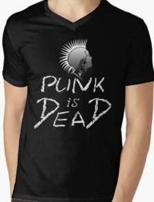 Punk is dead Mens V-Neck T-Shirt