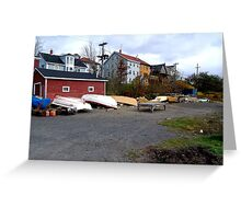 Lunenburg Scene Greeting Card