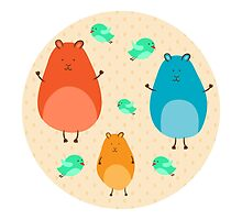 Cartoon funny hamsters by AllaRi