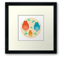 Cartoon funny hamsters Framed Print