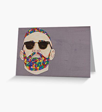 Man face portrait Greeting Card