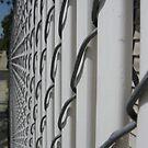White Fence by Jennifer  Gaillard