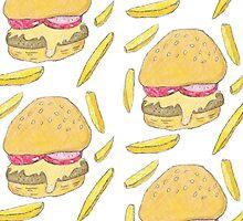 Om Nom Nom Nom... Burger by aileenswansen