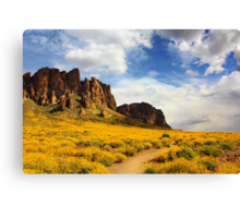 The Flat Iron cliffs of Lost Dutchman Canvas Print
