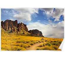 The Flat Iron cliffs of Lost Dutchman Poster