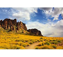 The Flat Iron cliffs of Lost Dutchman Photographic Print