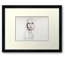green-eyed girl Framed Print