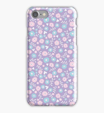 Floral hearts iPhone Case/Skin