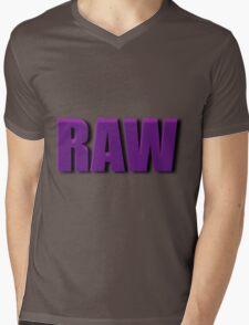 purple raw Mens V-Neck T-Shirt