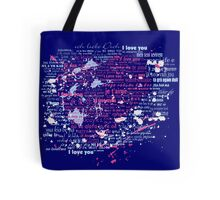 Multi-lingual Message of Love Tote Bag