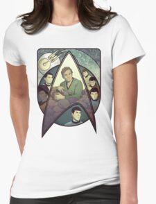 Star Trek Art Nouveau Womens Fitted T-Shirt