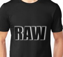 black raw Unisex T-Shirt