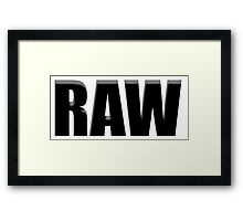black raw Framed Print