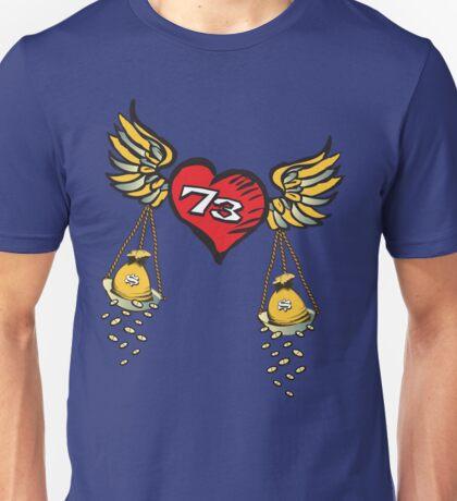 T-Shirt 73/85 (Finance) by Steve Farkas Unisex T-Shirt