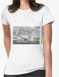 The Kelpies sculptures  Womens Fitted T-Shirt