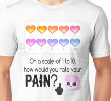 Lewis' scale of 1 to 10 Unisex T-Shirt