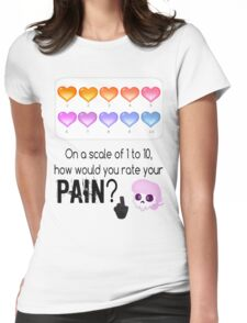 Lewis' scale of 1 to 10 Womens Fitted T-Shirt
