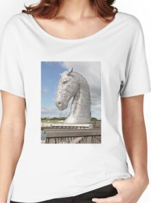 The Kelpies sculptures , Helix Park, Scotland Women's Relaxed Fit T-Shirt