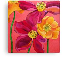 Red & Yellow Poppies Canvas Print