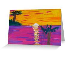 'Glitter Beach' by Gabby Liset Greeting Card