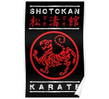Shotokan Karate (white text) Poster