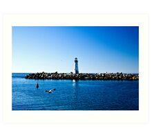 Lighthouse Flyby Art Print