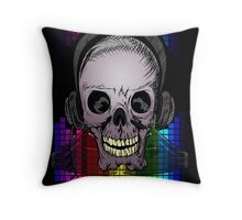 Skull, Guitars and Rock and Roll! Throw Pillow