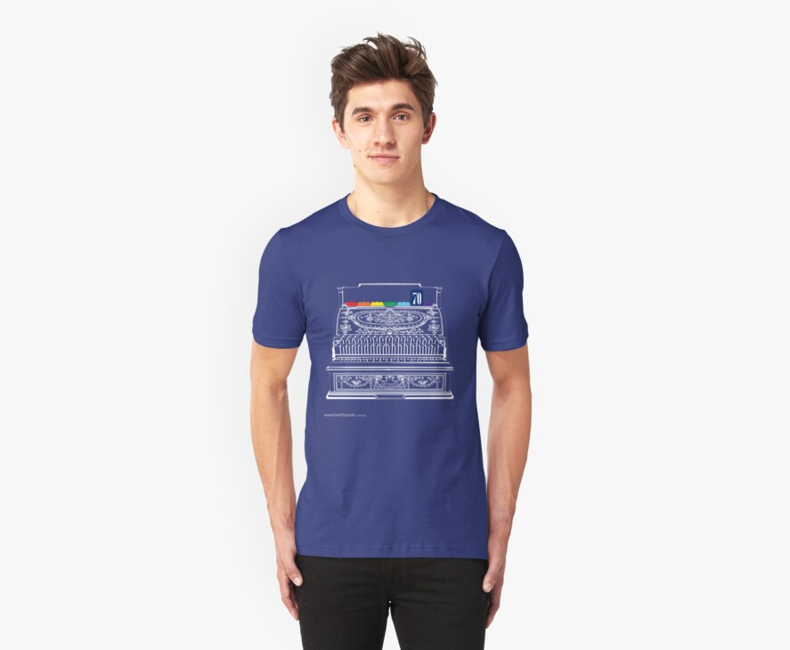 T-Shirt 70/85 (Finance) by Genevieve Hoey & Kirsten Gracie by WEAR IT WITH PRIDE (ACON)