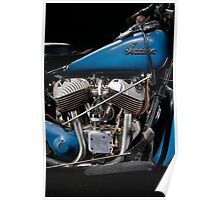 1948 Indian Chief engine Poster