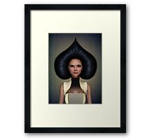Queen of spades portrait Framed Print