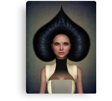 Queen of spades portrait Canvas Print