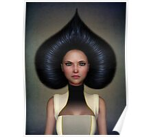 Queen of spades portrait Poster