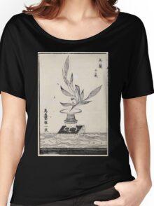 Shofu Enshuryu ikebana hamana no umi Flower Arrangement Toto Shoshi V1 1835 0025 Women's Relaxed Fit T-Shirt