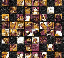Cats galore - for bag, pillows, pouches, laptop skins, drawstring bags  by Roberta Angiolani