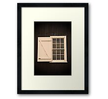 A window at Ritchie's Mill, Launceston Framed Print