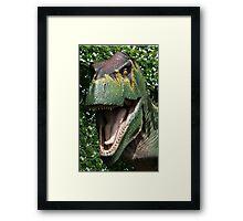 Dinosaur's yearbook photo Framed Print