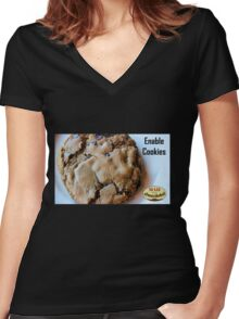 Enable Cookies Women's Fitted V-Neck T-Shirt