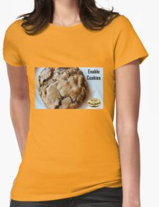 Enable Cookies Womens Fitted T-Shirt