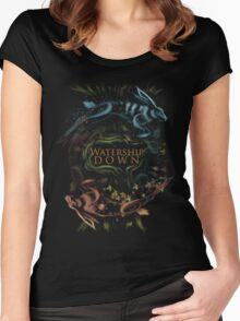 Watership Down alternative book cover Women's Fitted Scoop T-Shirt