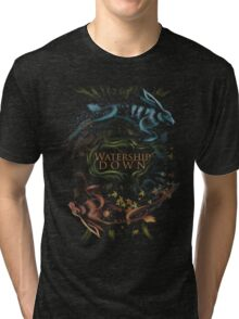 Watership Down alternative book cover Tri-blend T-Shirt