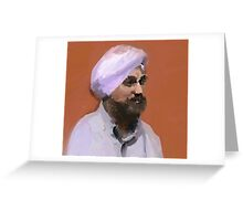 Turbaned Greeting Card