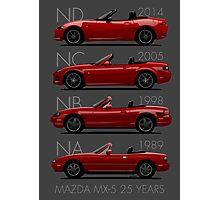 Mazda MX-5 25 years Photographic Print