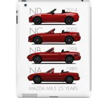 Mazda MX-5 25 years iPad Case/Skin