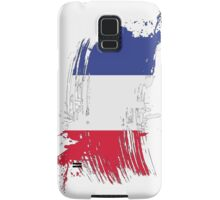 France Flag Brush Splatter Samsung Galaxy Case/Skin