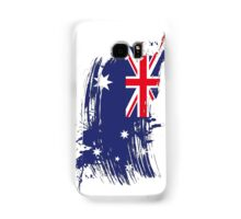 Australia Flag Brush Splatter Samsung Galaxy Case/Skin