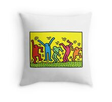 keith haring people Throw Pillow