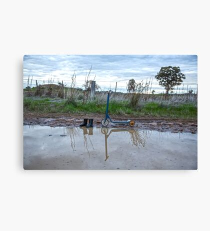 Paddling in Puddles.... Canvas Print