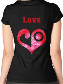 Digi Campus - Love Women's Fitted Scoop T-Shirt