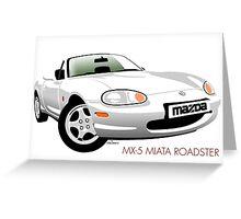 Mazda MX-5 Miata NB white Greeting Card