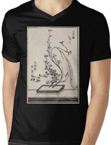 Shofu Enshuryu ikebana hamana no umi Flower Arrangement Toto Shoshi V1 1835 0022 Mens V-Neck T-Shirt